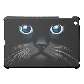 Blue Eyed Black Cat Face iPad Speck Case Cover For The iPad Mini