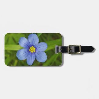 blue-eyed-grass luggage tag