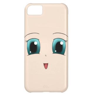 Blue Eyed Happy Chibi Face iPhone 5C Cases