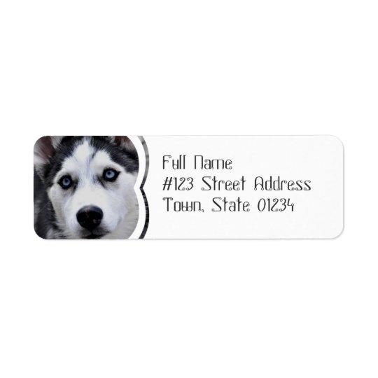 Blue Eyed Husky Mailing Labels