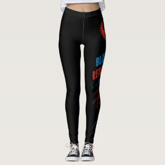 Blue Eyed Redheads The perfect blend of fire & ice Leggings