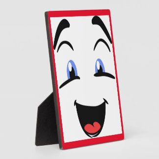 BLUE EYED SMILEY DISPLAY PLAQUE