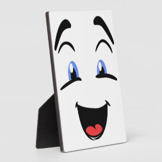 BLUE EYED SMILEY PLAQUE