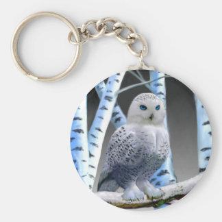 Blue-eyed Snow Owl Key Ring