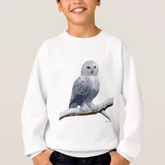 BLUE-EYED SNOW OWL.PNG SWEATSHIRT