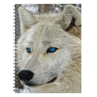 Blue eyed White Wolf Notebook