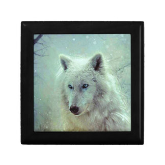 Blue Eyed Wolf Painting Artwork Gift Box
