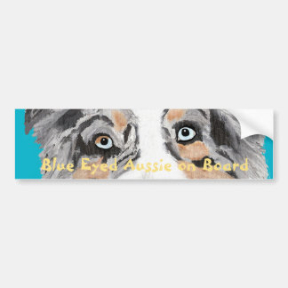 Blue Eyes Aussie on Board Bumper Sticker
