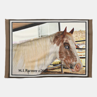 """Blue Eyes"" Horse Accent Kitchen Towel"