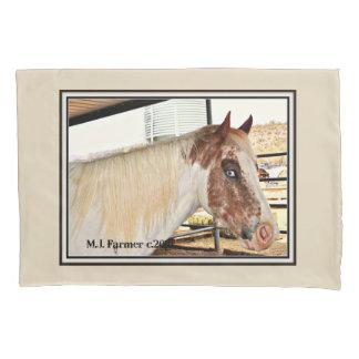 """Blue Eyes"" Horse Accent Pillowcase"