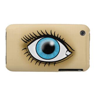 Blue Eyes icon iPhone 3 Case