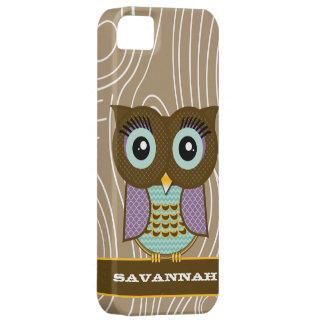 Blue Eyes Owl Wood Grain Zig Zag Choose Colors iPhone 5 Cases