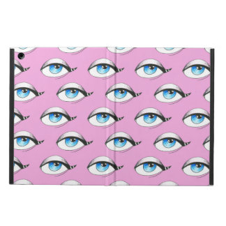 Blue Eyes Pattern Pink Cover For iPad Air