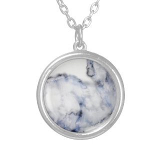 blue eyes rabbit silver plated necklace