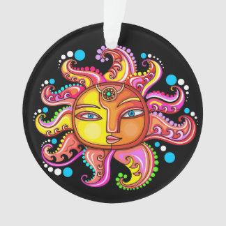 Blue Eyes Sun Celestial Acrylic Ornament