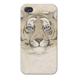 Blue eyes Tiger iPhone 4 Case