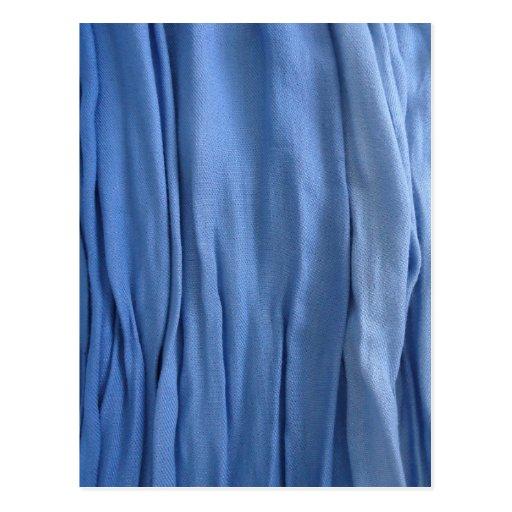 Blue Fabric postcard