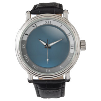 Blue Face Designer Watch