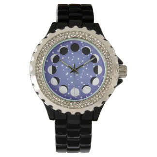 Blue Face Moon Phase Watch