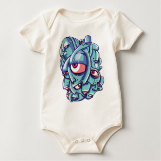 Blue Faces Baby Creeper