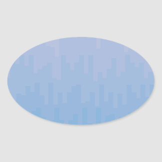 Blue Fade Oval Sticker