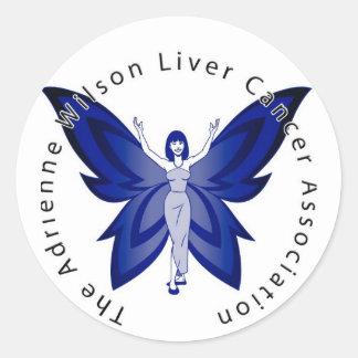 Blue Faery Round Sticker