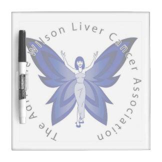 Blue Faery small dry erase board w/ pen
