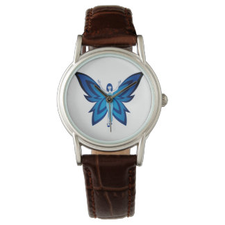 Blue Faery women's classic leather watch