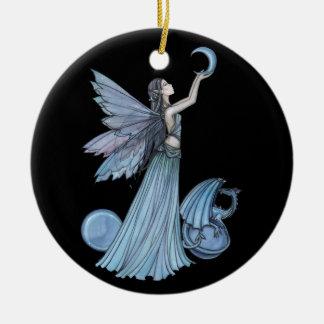 Blue Fairy and Dragon Ornament