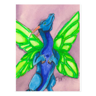 Blue Fairy Dragon Postcard