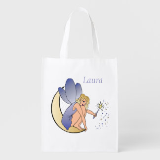 Blue Fairy Personalized Grocery Bag