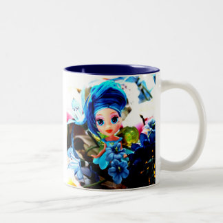 Blue Fairy  Two-Tone Coffee Mug