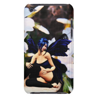 Blue fairy with flowers iPod Touch  Case-Mate Barely There iPod Covers