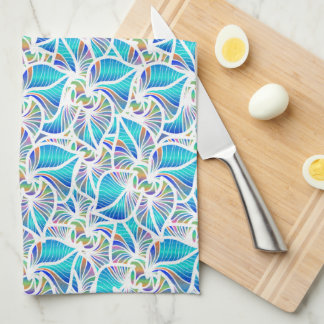 Blue Fantasies Tea Towel