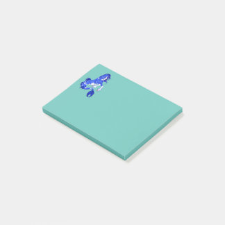 Blue Fantasy Clydesdale Seahorse Post-it Notes