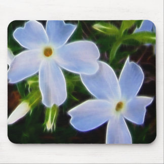 Blue fantasy flower spring mousepad