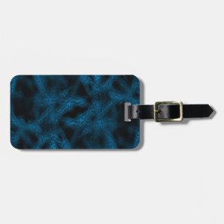 Blue fantasy pattern luggage tag