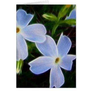 blue fantasy spring flowers card