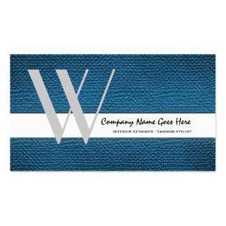 Blue fashion stylist seamstress tailor business card templates