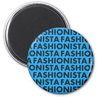 Blue Fashionista Bold Text Cutout Magnet