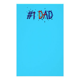 Blue Father's Day #1 Dad Personalised Stationery