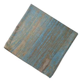 Blue Faux Beach Wood Texture Bandana