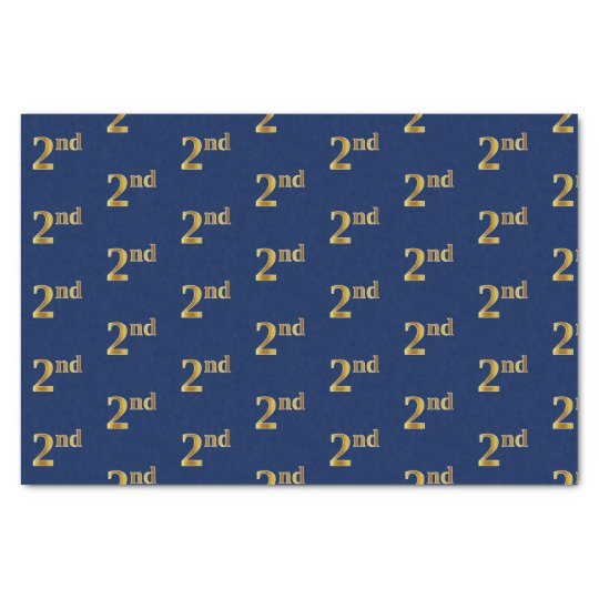 Blue, Faux Gold 2nd (Second) Event Tissue Paper