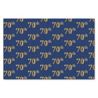 Blue, Faux Gold 70th (Seventieth) Event Tissue Paper