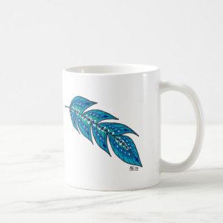 Blue Feather Coffee Mug