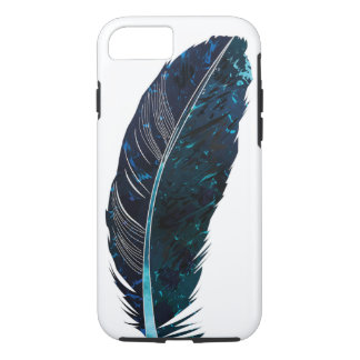 Blue feather illustration iPhone 7 case