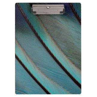 Blue feather pattern clipboard