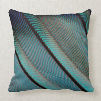 Blue feather pattern cushion