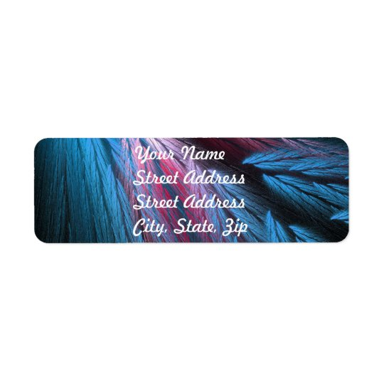 Blue Feather Return Address Sticker Return Address Label