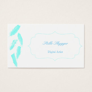 Blue Feathers Business Card